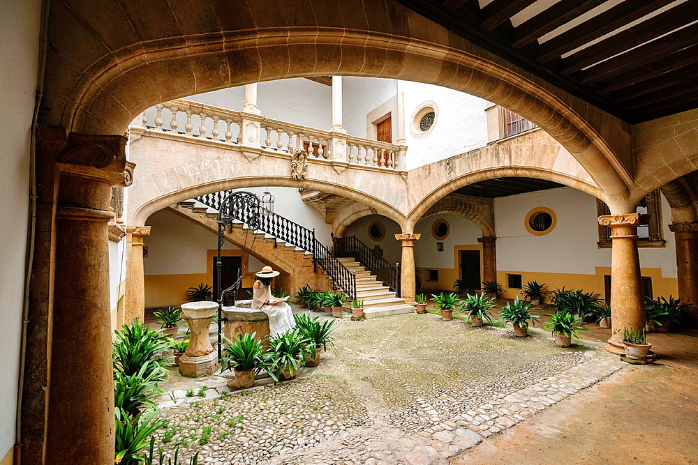 Can Oleza palace built by the family Descos in the fifteenth century, Historic-Artistic Monument, Palma, Mallorca, Balearic Islands, spain, europe.