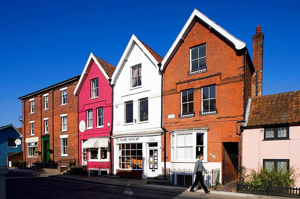 Aldeburgh, town center, Suffolk, England.