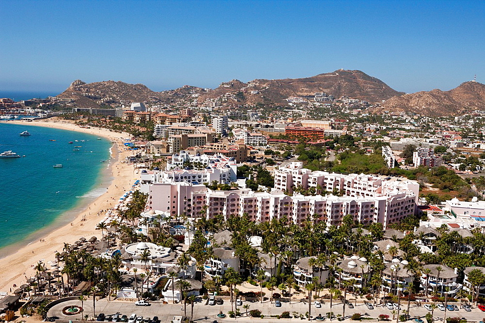 Resorts at Medano Beach, Cabo San Lucas, Baja California Sur, Mexico.