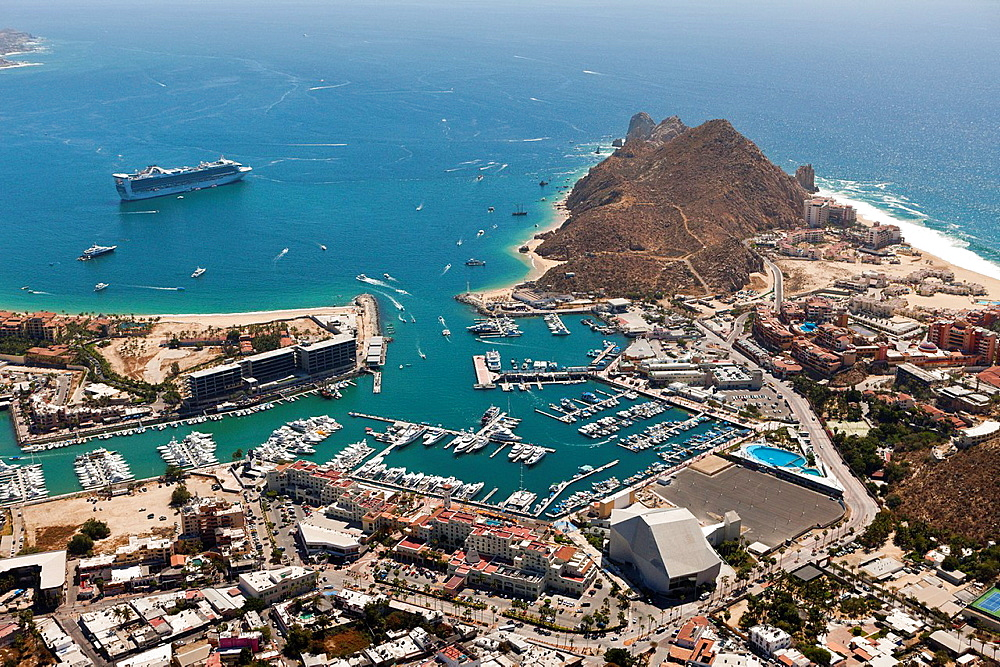 Harbour of Cabo San Lucas, Cabo San Lucas, Baja California Sur, Mexico.