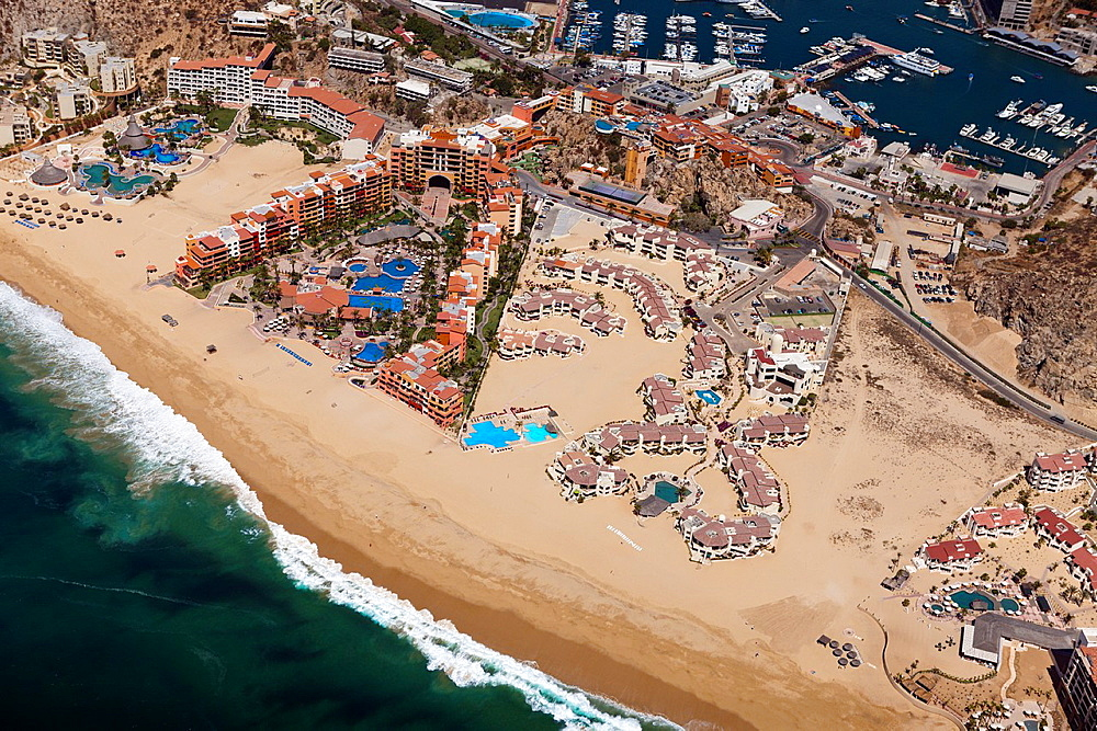 Medano Beach of Cabo San Lucas, Cabo San Lucas, Baja California Sur, Mexico.