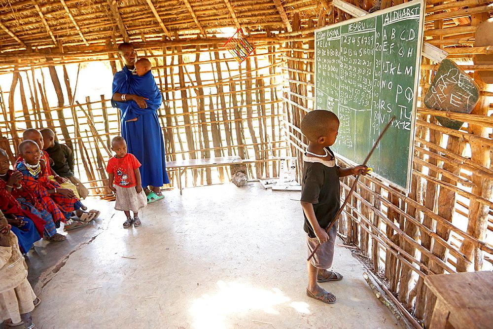 Maasai school. Serengeti. Tanzania.
