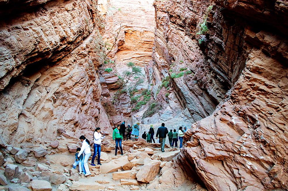 Geological formation called 'Garganta del Diablo' Devil's Throat, Province of Salta, Argentina.