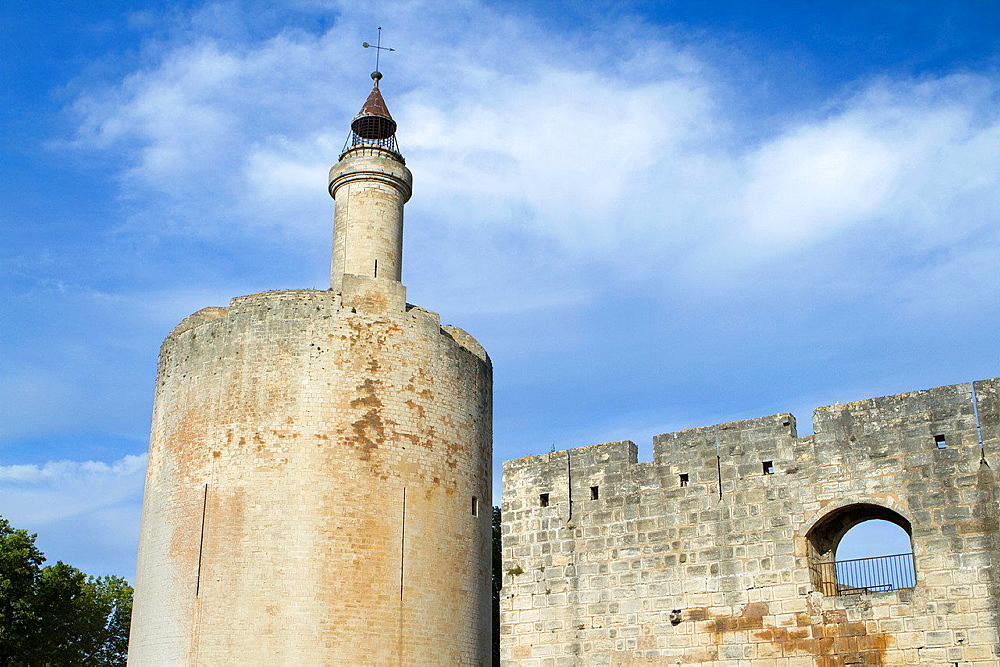 Costance Tower (XIII century). Aigues-Mortes, in Petit Camargue. Gard department. Languedoc-Roussillon region. France.