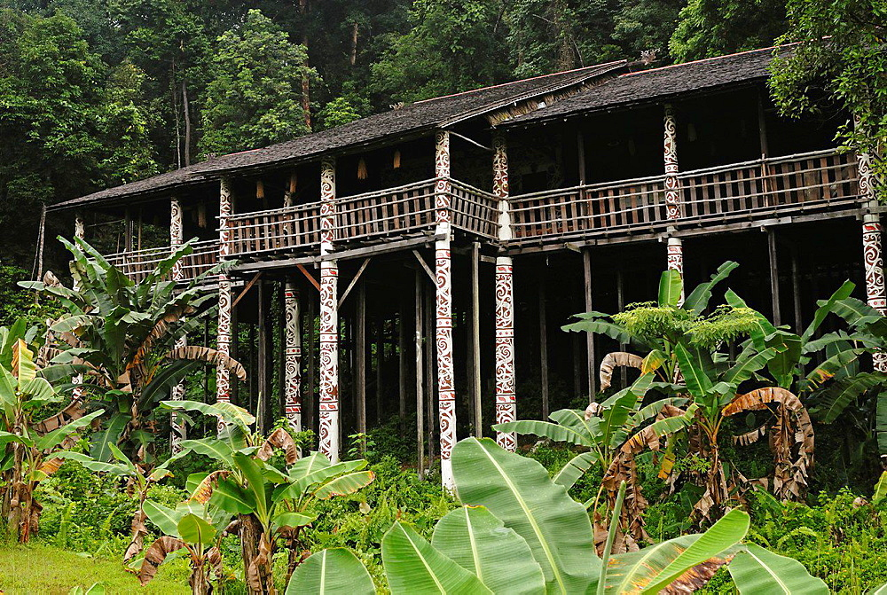 A typical Melanau wooden house at Sarawak Cultural Village.