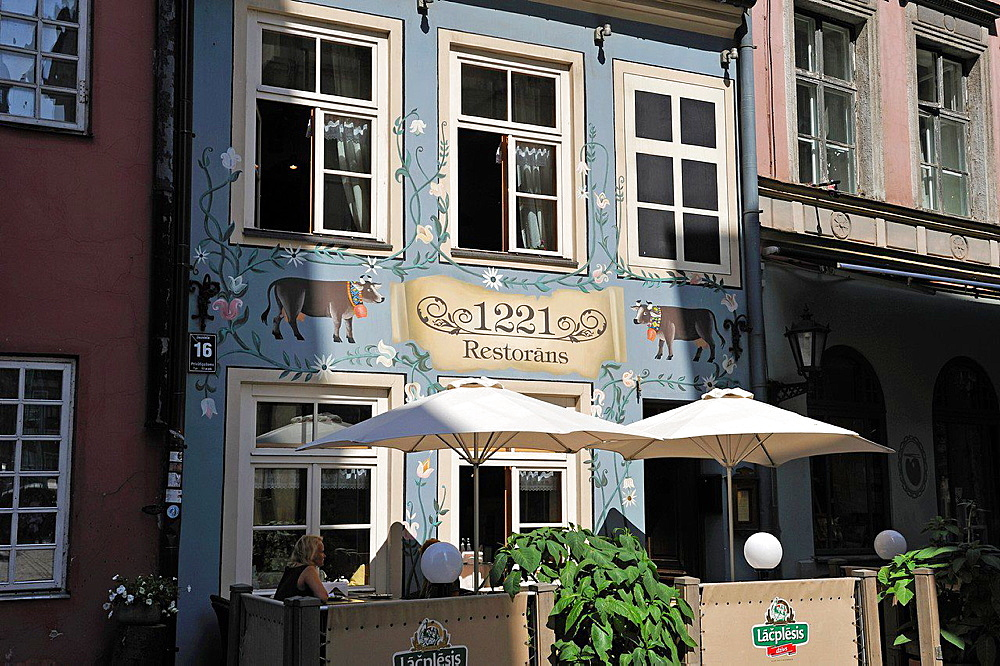 1221 restaurant in Jauniela street, Riga, Latvia, Baltic region, Northern Europe