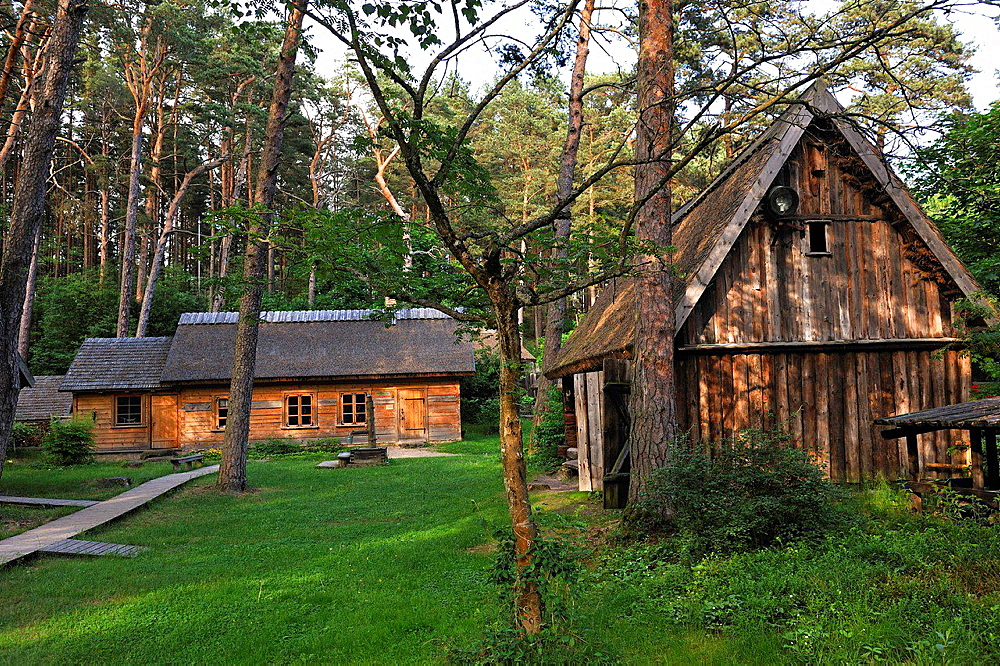 fisherman's farmstead in the Jurmala Open Air Museum, Lielupe area,, Gulf of Riga, Latvia, Baltic region, Northern Europe.
