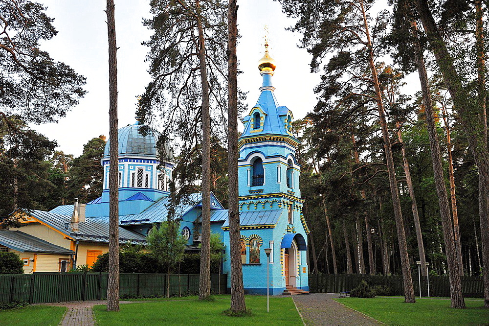 orthodox church at Majori, Jurmala, Gulf of Riga, Latvia, Baltic region, Northern Europe.