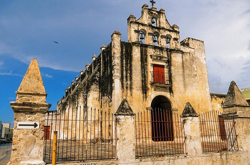 Iglesia del Dulce Nombre de Jesus o Capilla del Nazareno. Campeche. Mexico