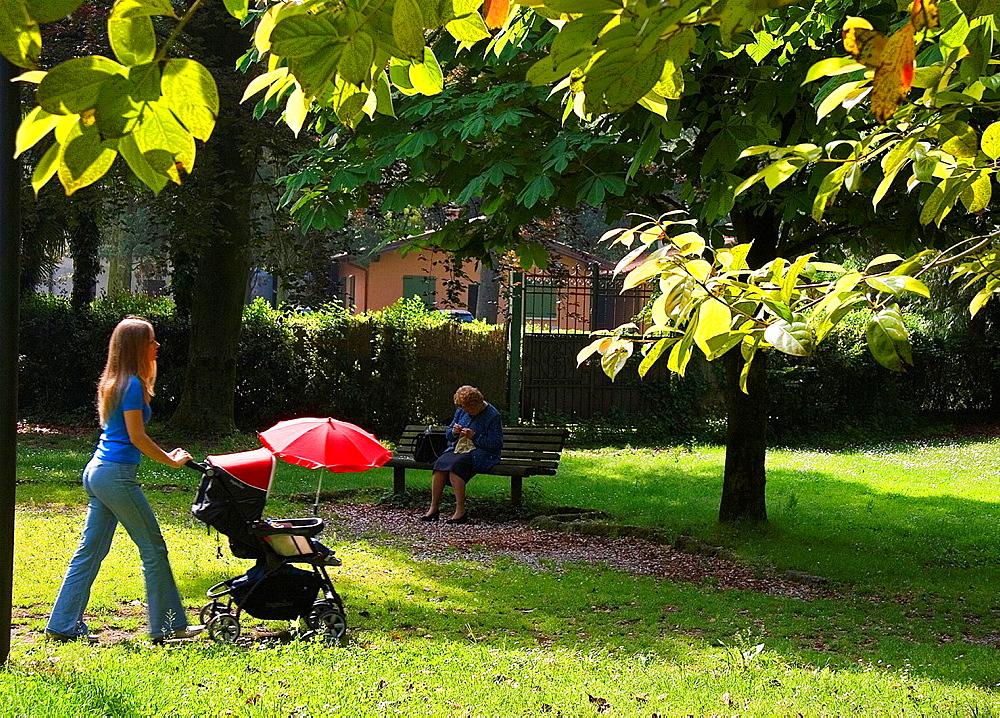Park of Maria Callas. Sirmione. Lombardia, Italy.