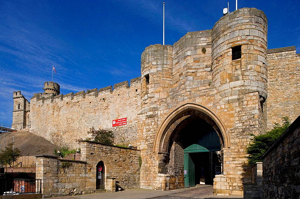 Lincoln, Castle Gate, Lincolnshire, the Midlands, UK