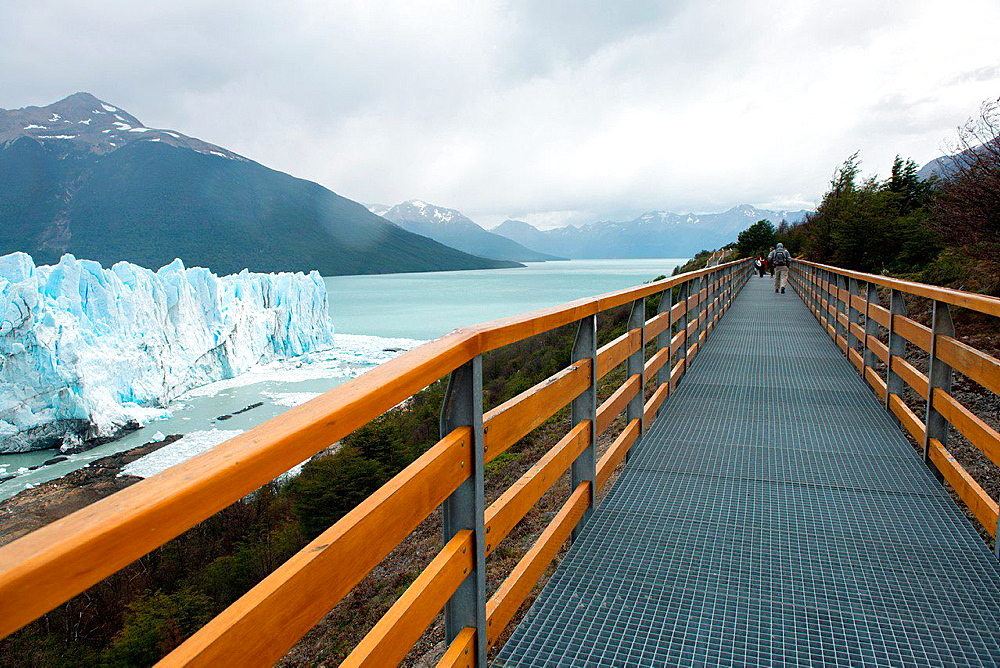 Hiking on Bridge, Perito Moreno Glacier.