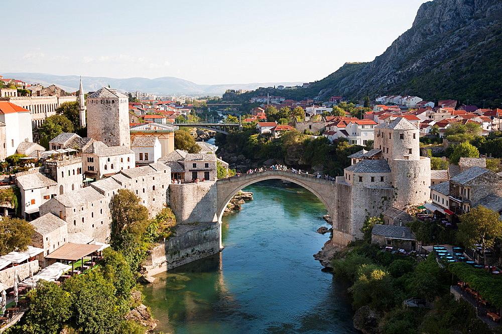 the old bridge, mostar, bosnia and herzegovina, europe.