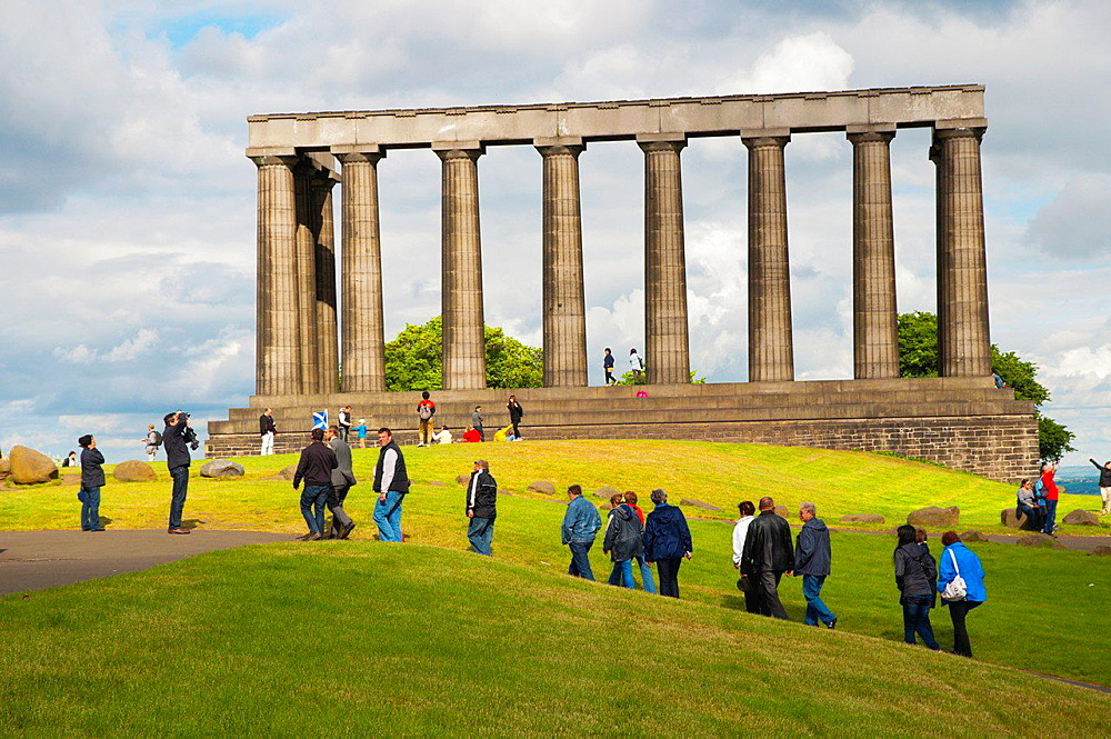 The National Monument in Calton Hill central Edinburgh Scotland Britain UK Europe.