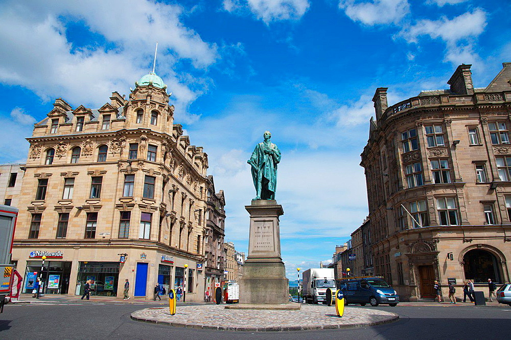 William Pitt statue in George Street central Edinburgh Scotland Britain UK Europe.