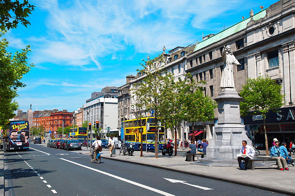 O'Connell street central Dublin Ireland Europe.