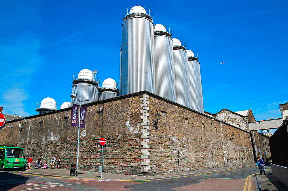 St James Gate factory and Guinness Storehouse Dublin Ireland Europe.