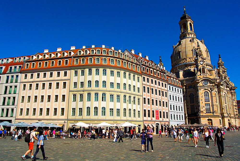Neumarkt square Altstadt the old town Dresden city Germany central Europe.