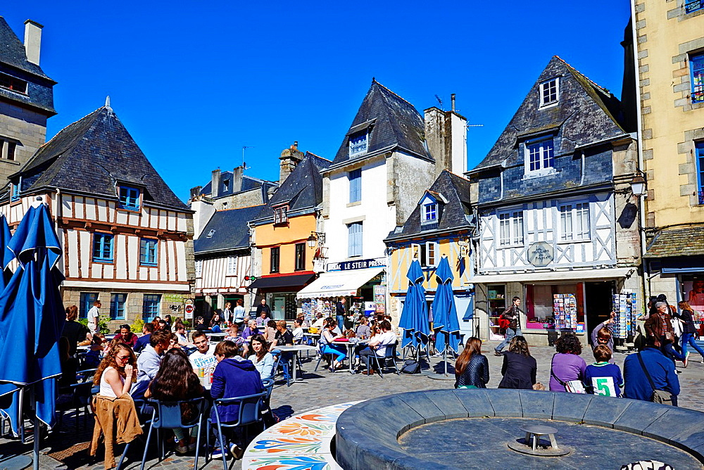 France, Brittany, Finistere, Quimper, Terre du Duc Square.