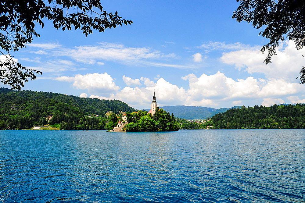Triglav, Bled, Maria Himmelfahrt, Cerkev Maijinega vnebovzetja, Slovenia, Northern Slovenia