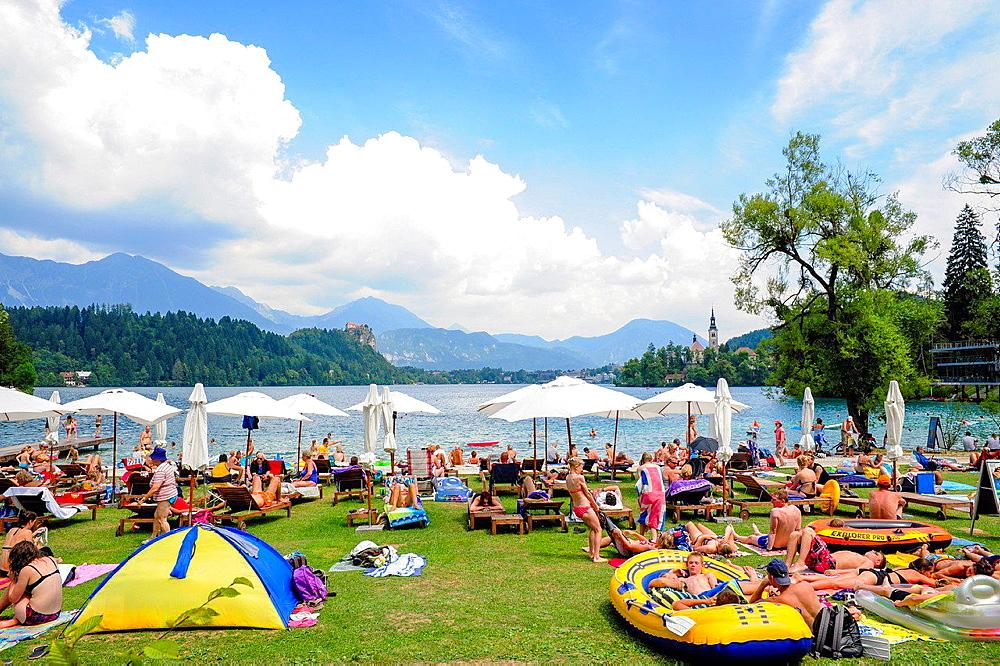 Triglav, Bled, lake, Slovenia, Northern Slovenia.