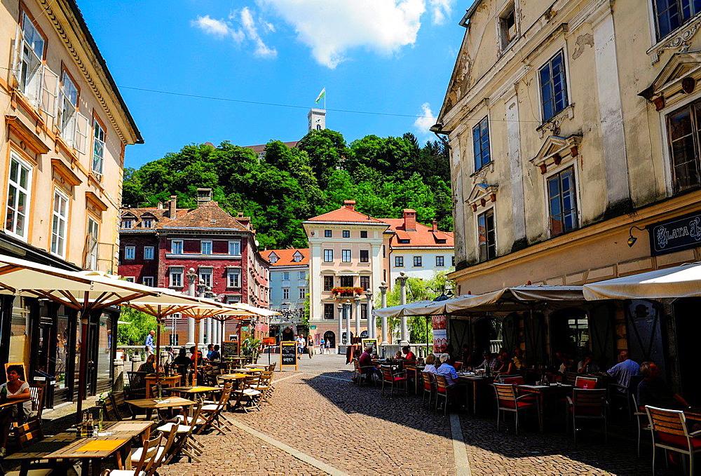 Ljubljana, old town, castle, Ljubljanski grad, Slovenia.