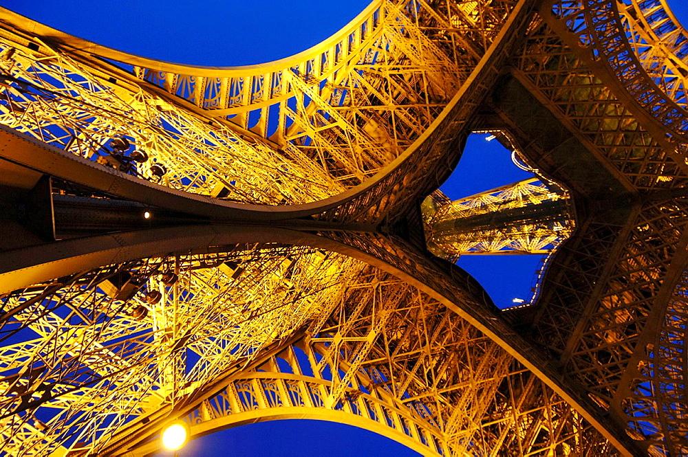 Paris, Eiffel Tower, Tour Eiffel, France.