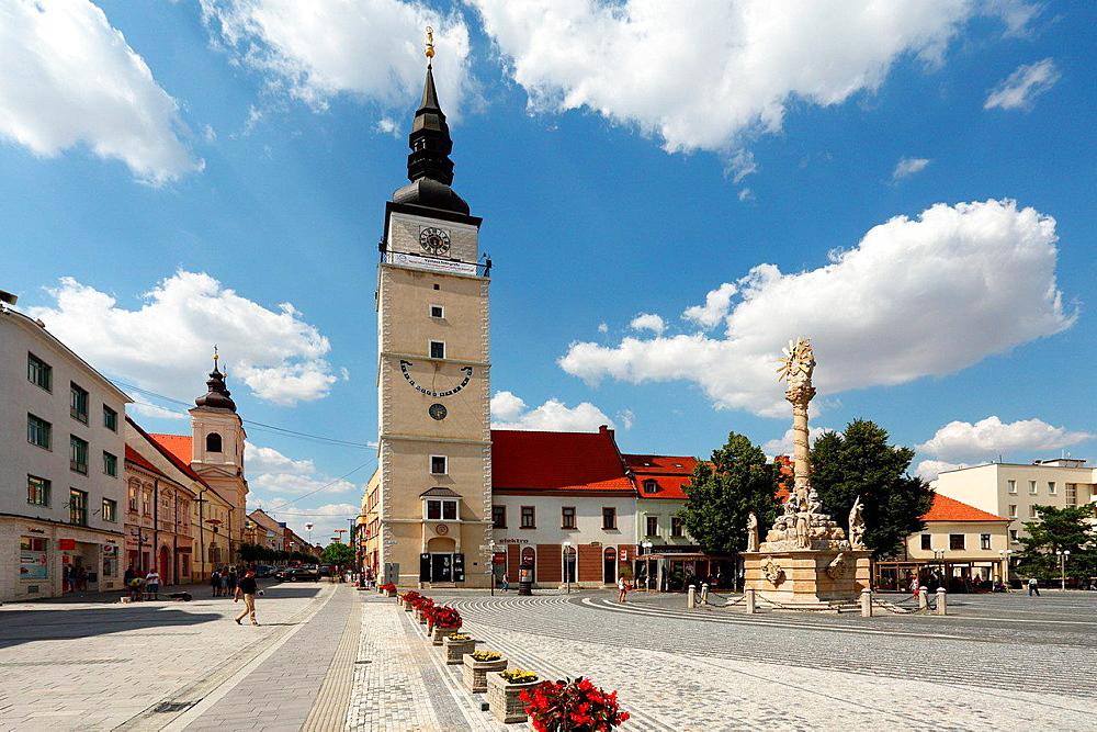 Renaissance bell tower on Trinity square, Trnava, Slovakia.