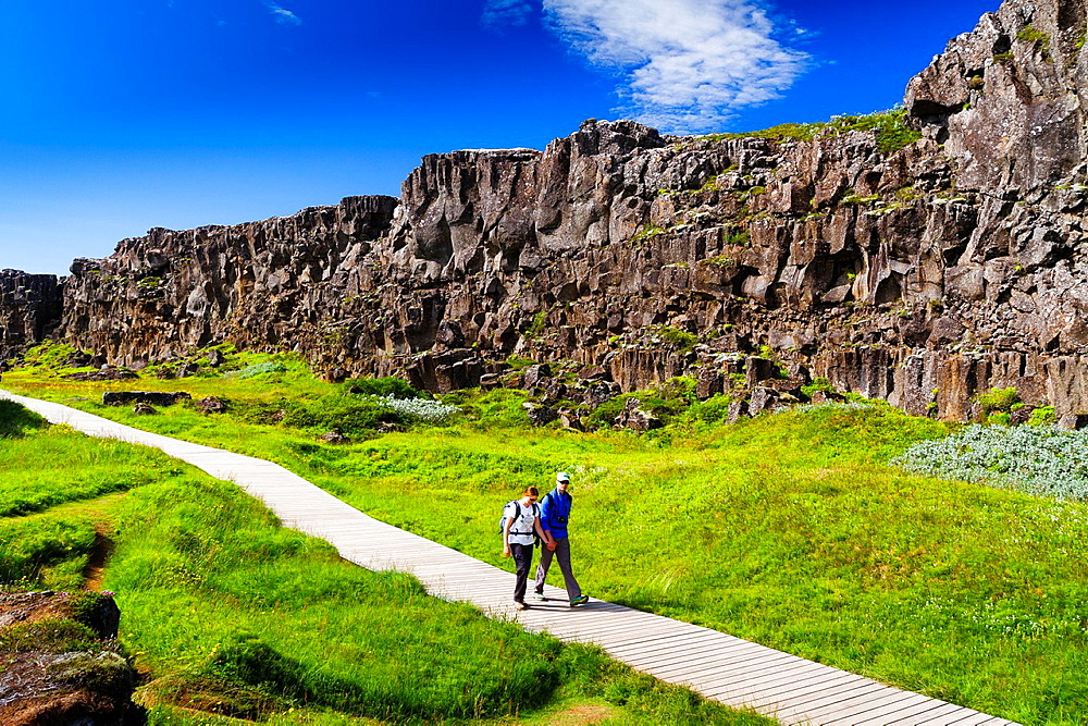 Rift Valley. Pingvellir National Park. Golden Circle. Iceland, Europe.