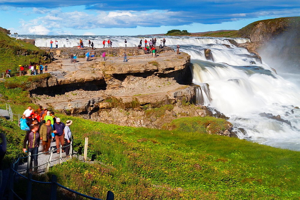 Gullfoss waterfall. Golden Circle. Iceland, Europe.