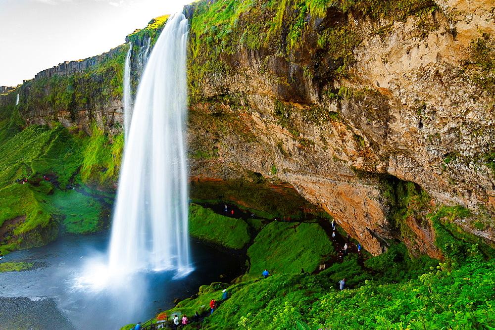 Seljalandsfoss waterfall. Iceland, Europe.