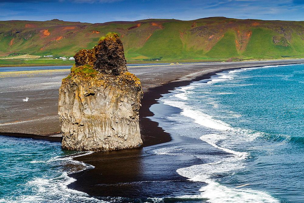 Dyrholaey beach. Iceland, Europe.