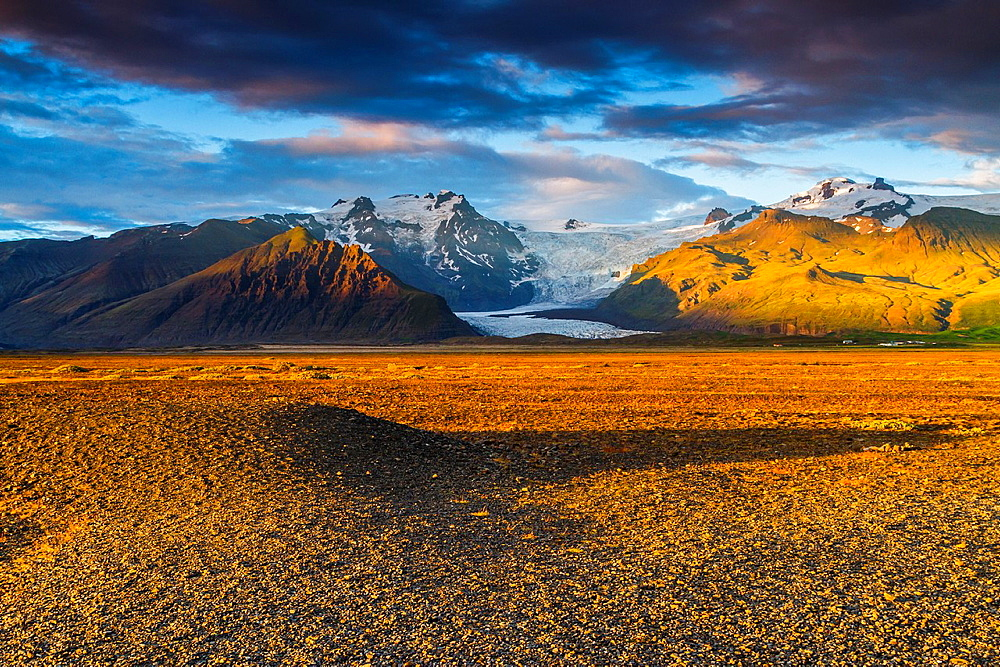 Mountain landscape in south Iceland, Europe.