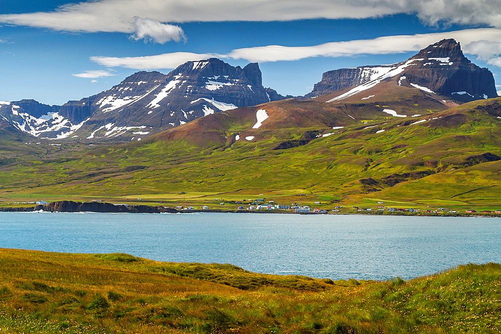 Borgarfjordur Eystri Fjord. East Fjords. Iceland, Europe.