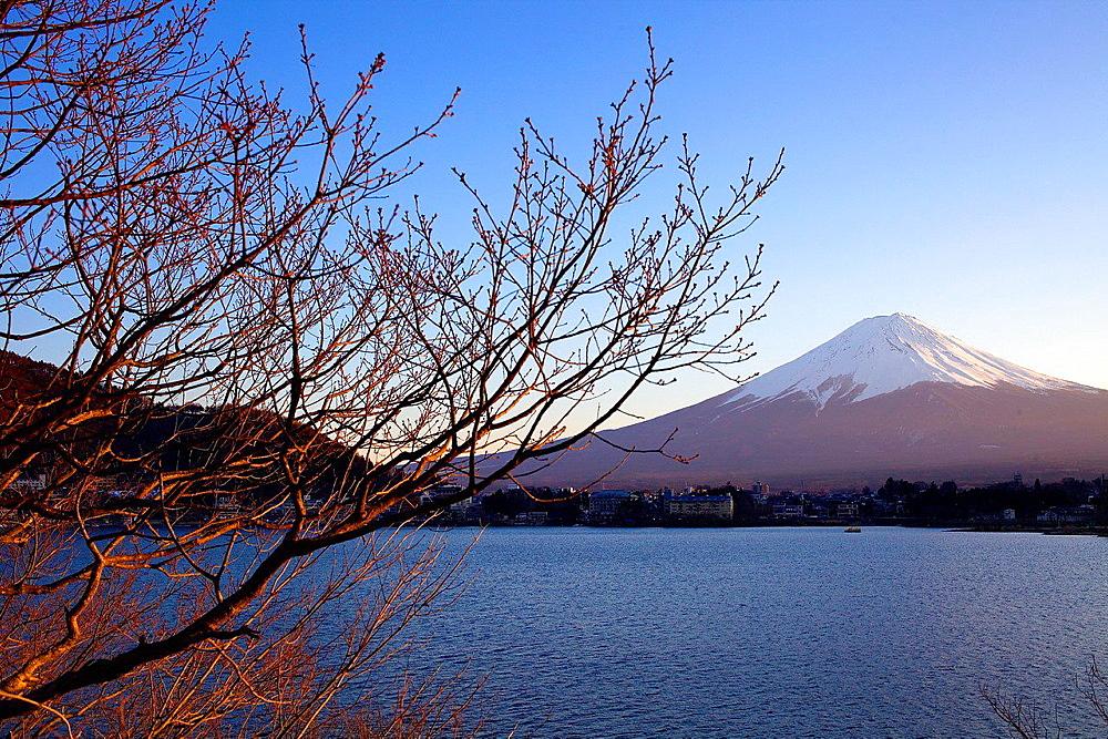 Mt Fuji from Kawaguchi Lake,Kawaguchiko,Yamanashi prefecture, Japan.