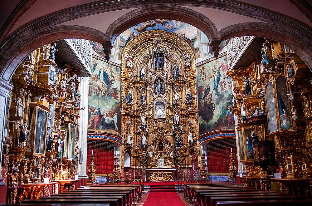 Nuestra Senora del Pilar church 'La Ensenanza', 104 Donceles street, Mexico City, Mexico.