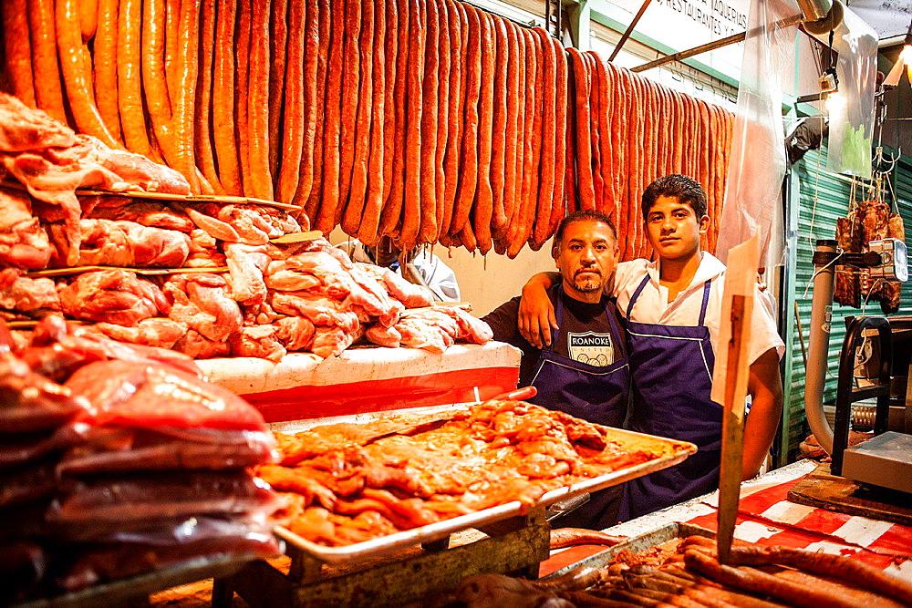 La Merced market, Butcher, Mexico City, Mexico.