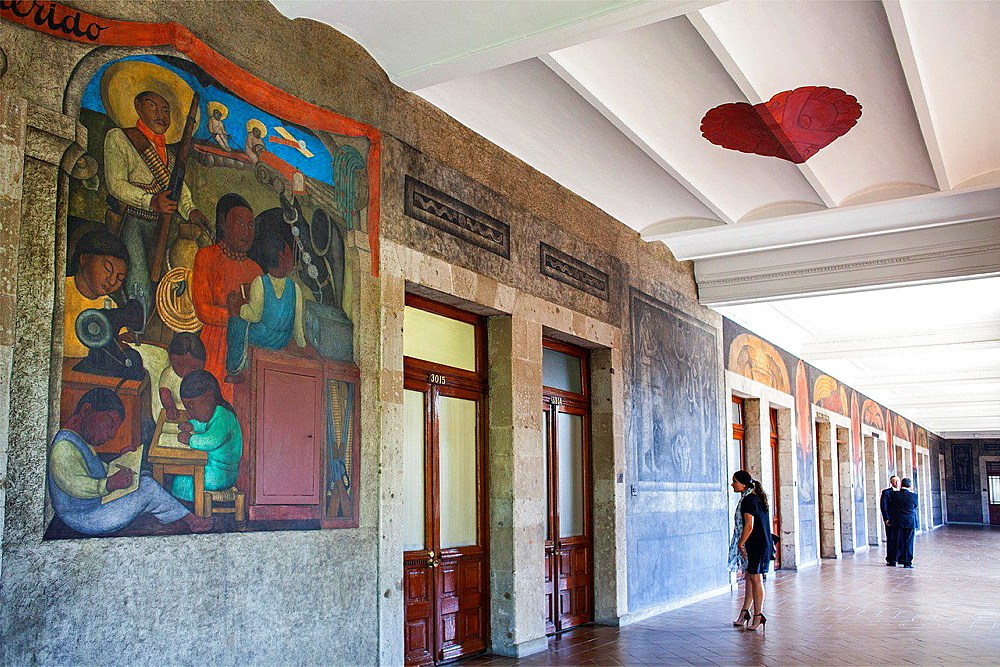 End of the ballad by Diego Rivera, at SEP (Secretaria de Educacion Publica),Secretariat of Public Education, Mexico City, Mexico.