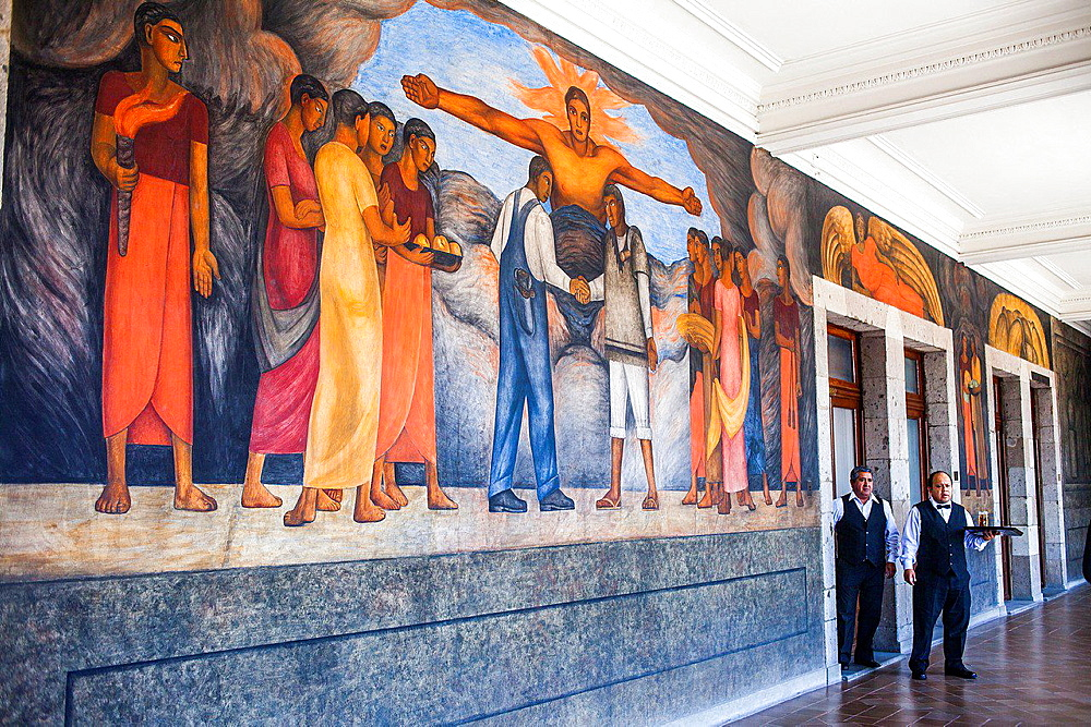 Fraternity by Diego Rivera, at SEP (Secretaria de Educacion Publica),Secretariat of Public Education, Mexico City, Mexico.