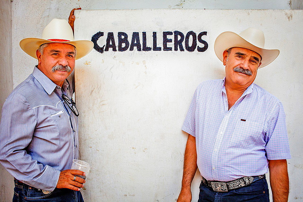Spectators in a charreada Mexican rodeo at the Lienzo Charro Zermeno, Guadalajara, Jalisco, Mexico.