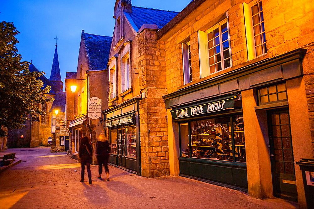 Rue du Pilori, medieval city, Guerande, Loire-Atlantique, France.