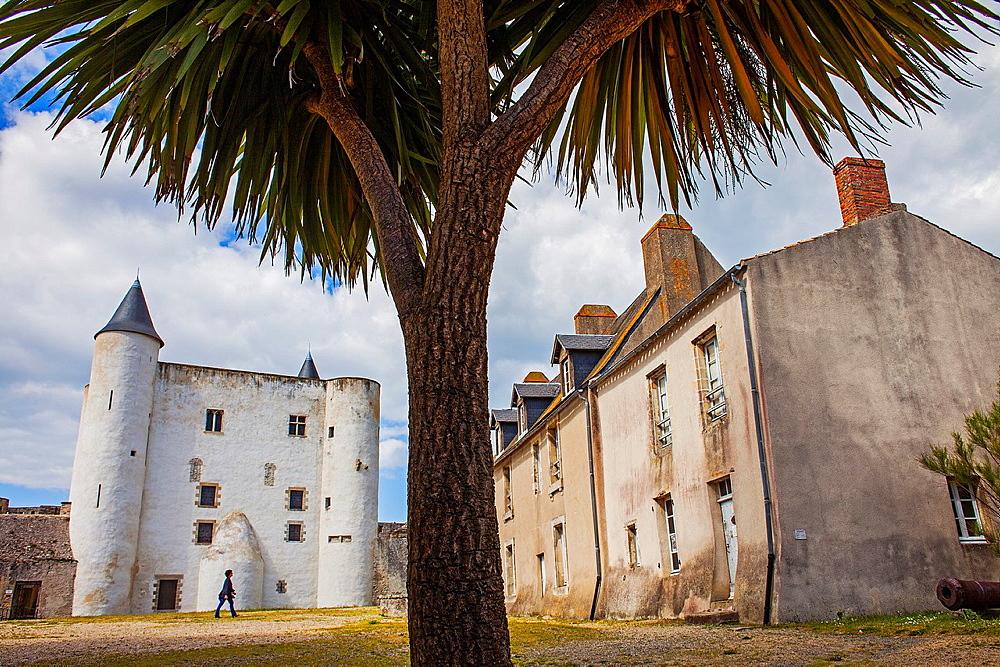 The castle Chateau de Noirmoutier, Noirmoutier en L'ile, Noirmoutier island, La Vendee, Pays de la Loire, France