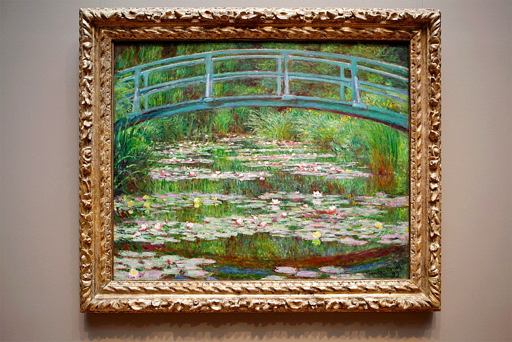 The Japanese Footbridge by Monet, National Gallery of Art, Washington D.C., USA.