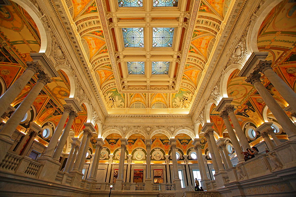 The Great Hall in the Library of Congress, Washington DC, USA.