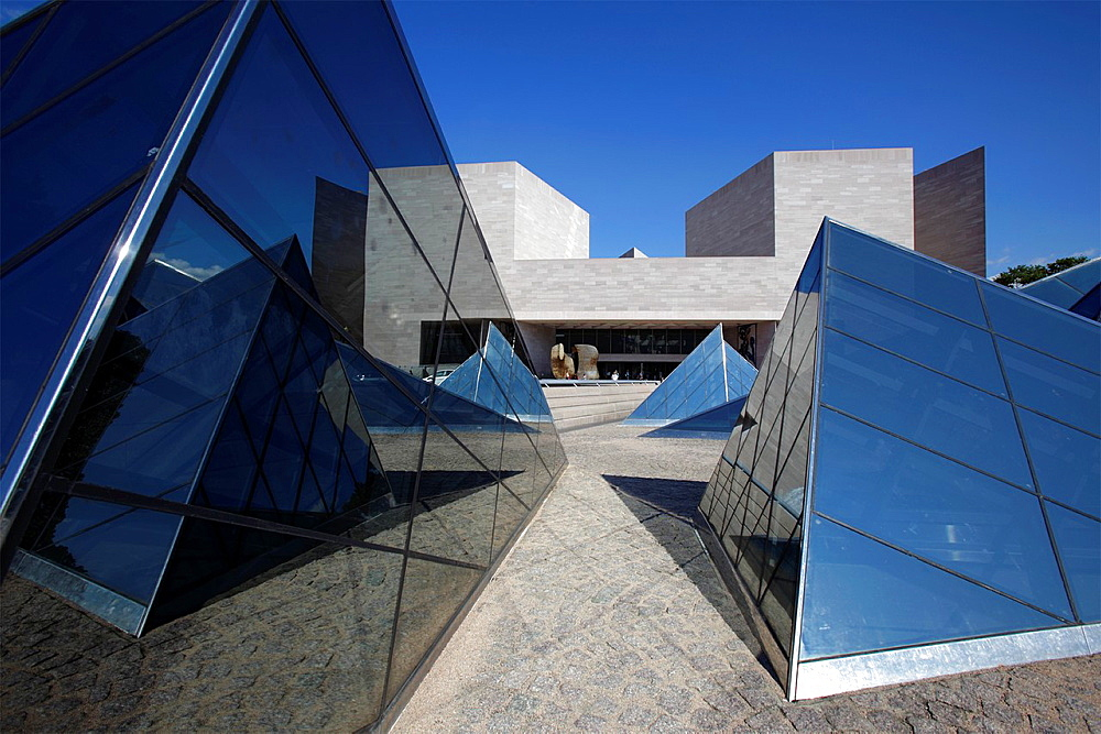 The East Building of the National Gallery of Art, Washington D.C., USA.