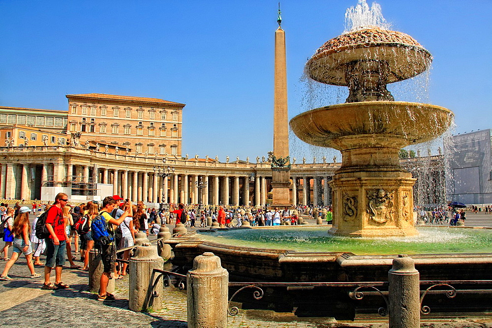 Carlo Maderno's Fountain in St. Peter's Square in Vatican City.