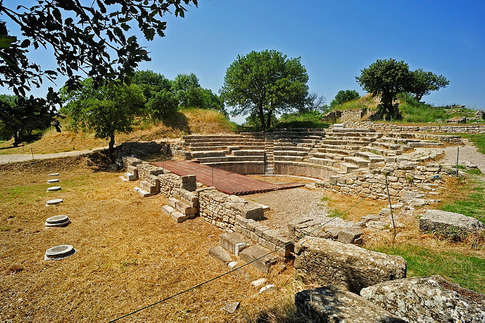 Roman Odeion, Troy Historic Site, Biga Peninsula, Turkey.