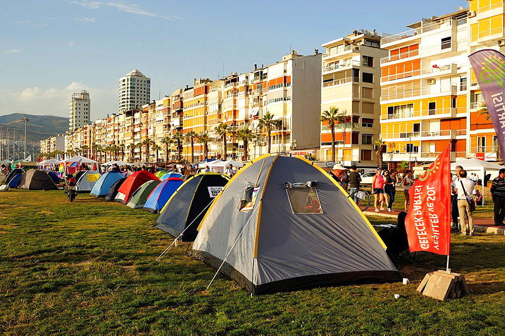 Protest camp, Izmir Turkey, June, 2013.