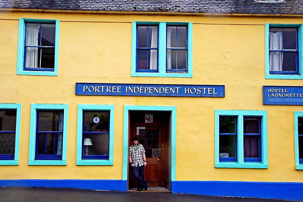 Independent hostel, Portree, Isle of Skye, Scotland, UK