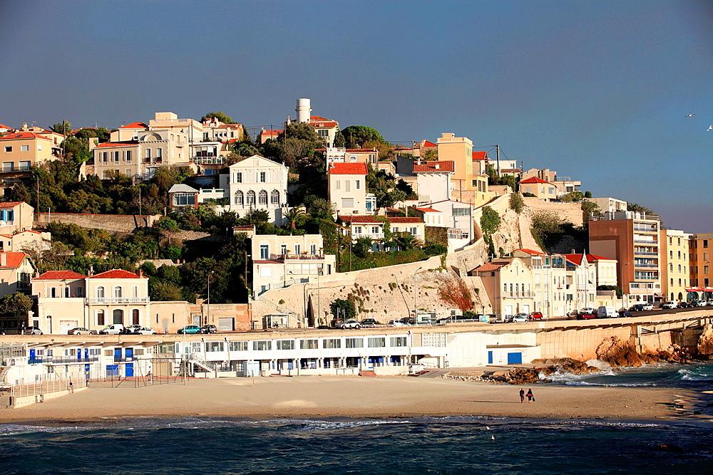 The Prophete beach, Marseille, Bouches du Rhone, Provence-Alpes-Cote d¥Azur, France